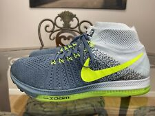 RARE🔥 Nike Zoom ALL OUT Fly Knit Wolf Gray Gradient Volt Shoes Sz 11 844134-407