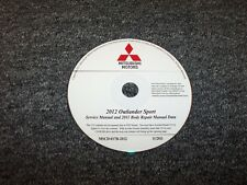2011 Mitsubishi Outlander Sport Shop Service Body Repair Manual DVD ES SE 2.0L