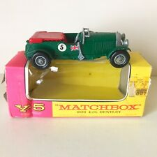 MATCHBOX MOY 1929 41/2 LITRE S BENTLEY - No. Y-5 - B - NM in ORIGINAL BOX