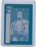 1/1 THE BARBARAIN 1991 CLASSIC PRINTING PRESS PLATE WRESTLING CARD WWF WF 1 of 1