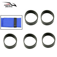 5x Scuba Weight Belt Rubber Fixed Ring For Diving  Webbing Strap Backplate