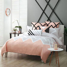 Linen House Bedroom Geometric Quilt Covers