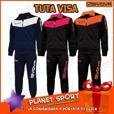 Givova Visa Tuta da ginnastica Nero/arancione Fluo S