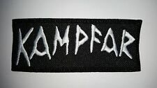 KAMPFAR WHITE  LOGO  EMBROIDERED  PATCH