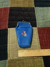 Blue Vinyl Snap-Closure Tobacco/Cannabis Cigarette Lighter Case Three Tulips 420