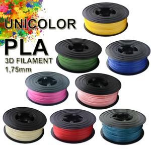 3D UNICOLOR PLA Filament 1kg 1,75 mm Drucker Printer Spule Rolle 1000g
