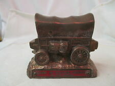 Vintage Banthrico Chicago copper color Bank Covered Wagon Glacier Co Montana