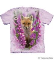 The Mountain 100% Cotton Unisex Foxgloves Purple T-Shirt Tee Sizes M-L-XL NWT.