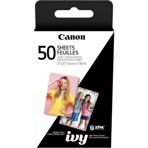 "Canon 2 x 3"" ZINK Photo Paper Pack 50 Pieces - (3215C001)"