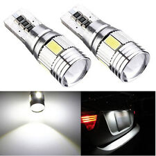 2x Xenon White LED Error Free Canbus 6SMD Side Wedge Light Bulb T10 194 168 W5W