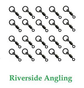 Micro Hook Ring Swivel Size 22 x20 Black Ring Carp Fishing Ronnie Rigs