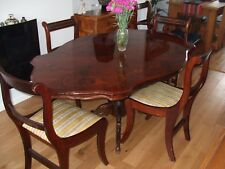 Italian Inlaid Dining Table and Chairs