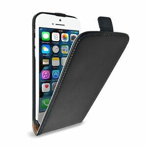 UK Black Luxury Genuine Real Leather Flip Case Cover for iPhone 6 PLUS / 6S PLUS