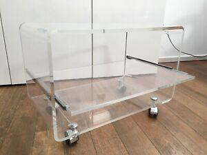 Table Basse Plexiglass Épais Design Dumas? Années 70 Déco Meuble