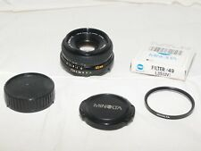 Minolta MD 45mm f2 Compact Prime Pancake Style Normal Lens. Sony a7III-micro 4/3
