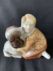 Wade - Welcome Home Figurine Modelled by Ken Holmes (Ltd Ed 2500) Dog & Boy