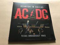 REUNION IN DALLAS  AC/DC  RED Vinyl Double Album / PARA183LTD  rare live