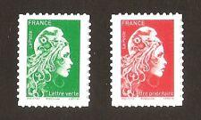 2019 Autoadhésifs  timbres 1653 + 1654 MARIANNE L'ENGAGEE  NEUFS**