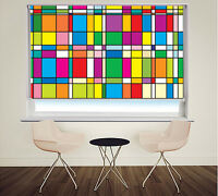 Mondrian style Abstract Art Pattern Picture Photo window roller blind