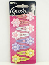 GOODY GIRL DAISY CONTOUR SNAP HAIR CLIPS - 8 PCS. (32810)