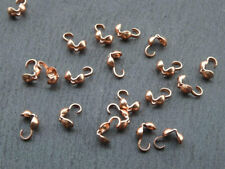 20 pcs of genuine copper clamshell bead tips