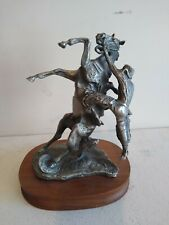 Where the Best of Riders Quit Pewter Sculpture After C. M. Russell