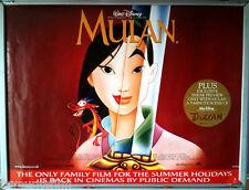 Cinema Poster: MULAN 1998 (Rerelease Quad) Eddie Murphy Donnie Osmond Pat Morita