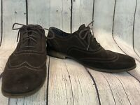 Florsheim Brown Suede Jet Wingtip Oxford Dress Shoes Men's Sz 9D