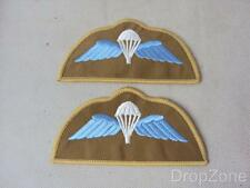 NEW Pair of Royal Marines Parachutist's Para Wings Shoulder Badges / Patches