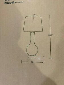 Kenroy Home Decanter 29 in. Glass Table Lamp 32255CLR