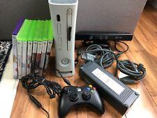 Microsoft Xbox 360 Pro Launch Edition 20GB Matte White Console (NTSC) Games LOT
