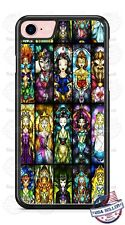 Disney Characters Collage Stained Phone Case for iPhone X 8 PLUS Samsung etc