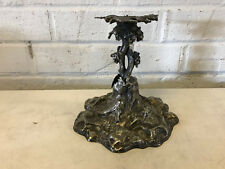 Antique Elkington Silver Plated Figural Grape Vine Candle Stick / Compote Holder