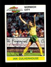 Ian Culverhouse Norwich City 1992 Panini Sammelbild Original Signiert+ A 157889