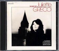 MAT 1A2 JULIETTE GRECO The Best JAPAN 1st Press CD 1984 CP35-5018 BLACK TRIANGLE