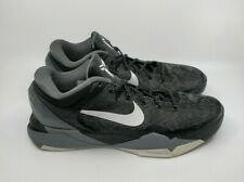 Nike Zoom Kobe 7 VII 2012 BLACK WHITE WOLF GREY FTB WTK Size 12 488371-001