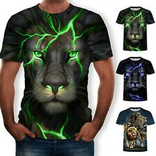 Summer Shirt Graphic Womens Animal Mens Sleeve Tee Funny Print T 3D Casual Short