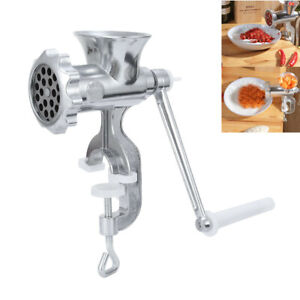 Hand Held Stainless Steel Meat Grinder Manual Sausage Beef Mincer Kitchen ro