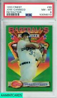 1993 TOPPS FINEST Jose Canseco #99 REFRACTOR ALL STARS TEXAS RANGERS PSA 8 NM-MT