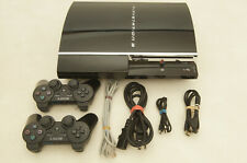 Sony PlayStation 3 PS3 80GB Piano Black Console CECHE01 complete