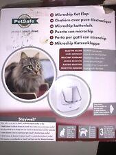 PetSafe Microchip Cat Flap - White 4-Way Lock Easy Program Cat Door Ppa19-16145