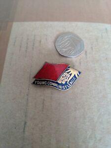 Young communist league vintage enamel pin Badge political politics