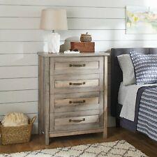 Better Homes & Gardens Modern Farmhouse 4-Drawer Chest, Rustic Gray Finish