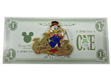 Disney 2005 Scrooge Money Bags LE 1000 Pin on Special One Dollar card