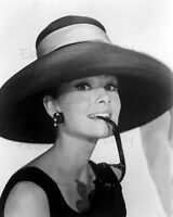 Audrey Hepburn - Big Hat-Actress 8X10 Photo Reprint