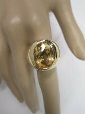 STUNNING ESTATE 18 KT YELLOW GOLD MEN'S CITRINE RING 18.2 GRAMS !!!!!!