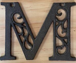 Letter M - Cast Iron Ornate Scroll Alphabet Letters