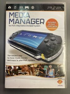 Media Manager For PSP (Sony, 2006) UMD PlayStation Portable Port Music Movies
