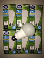 6 PACK LED 60W = 10W Soft White Dimmable 60 Watt Equivalent A19 2700K light bulb