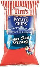 Tim's Cascade Snack Style Potato Chips (Sea Salt & Vinegar) 8 Oz. 2 Bags